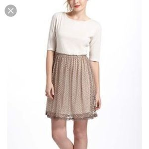 Anthropologie wool & lace dress. Size M. EUC